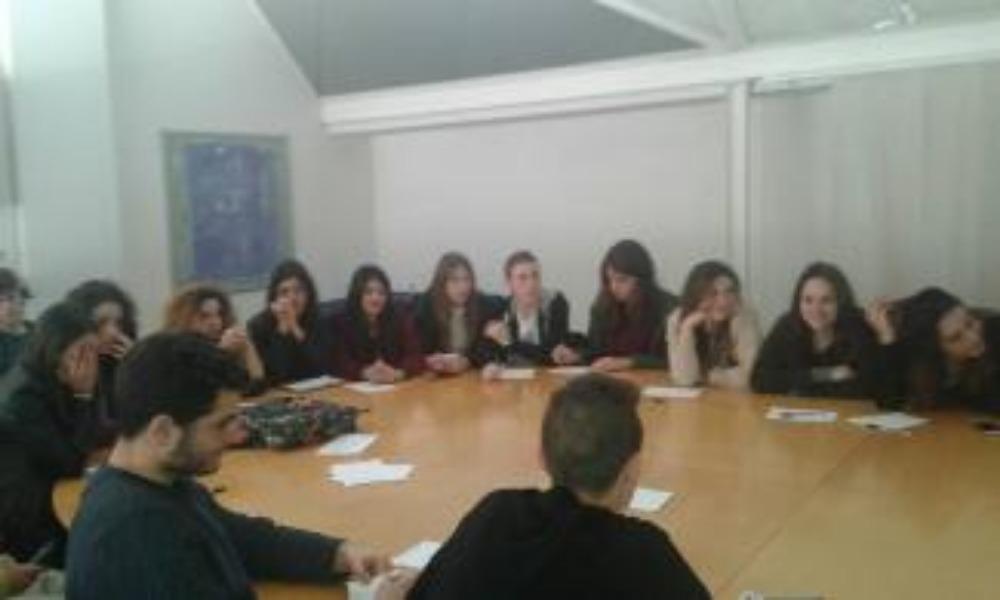 I ragazzi del Liceo Di Giacomo presso la sede Paidea per il progetto ASL: Animatore culturale