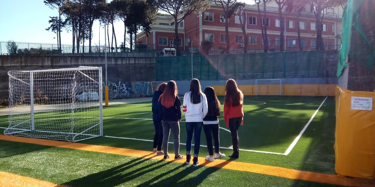 Inaugurazione campo di calcio a cinque - organi...