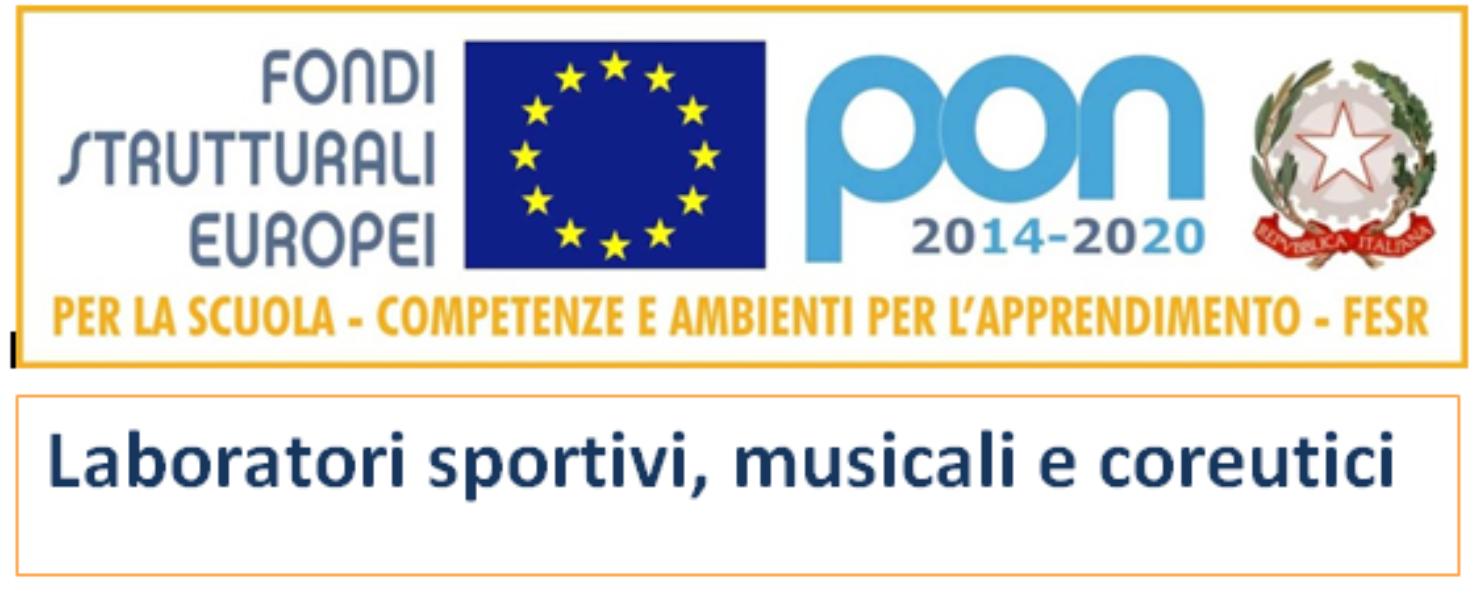 PON Fesr  Impianti sportivi  Codice:10.8.1.A5-FESRPON-CA-2018-1